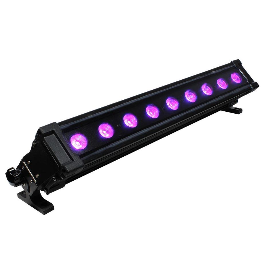 Led Light Bar Ip65 Outdoor Rated 9x 15 Watt 5x3w Leds 6 In 1 Rgbaw Uv