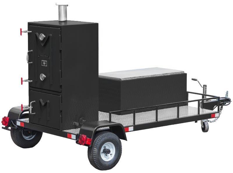 Meadow Creek Box Smoker Towable Black