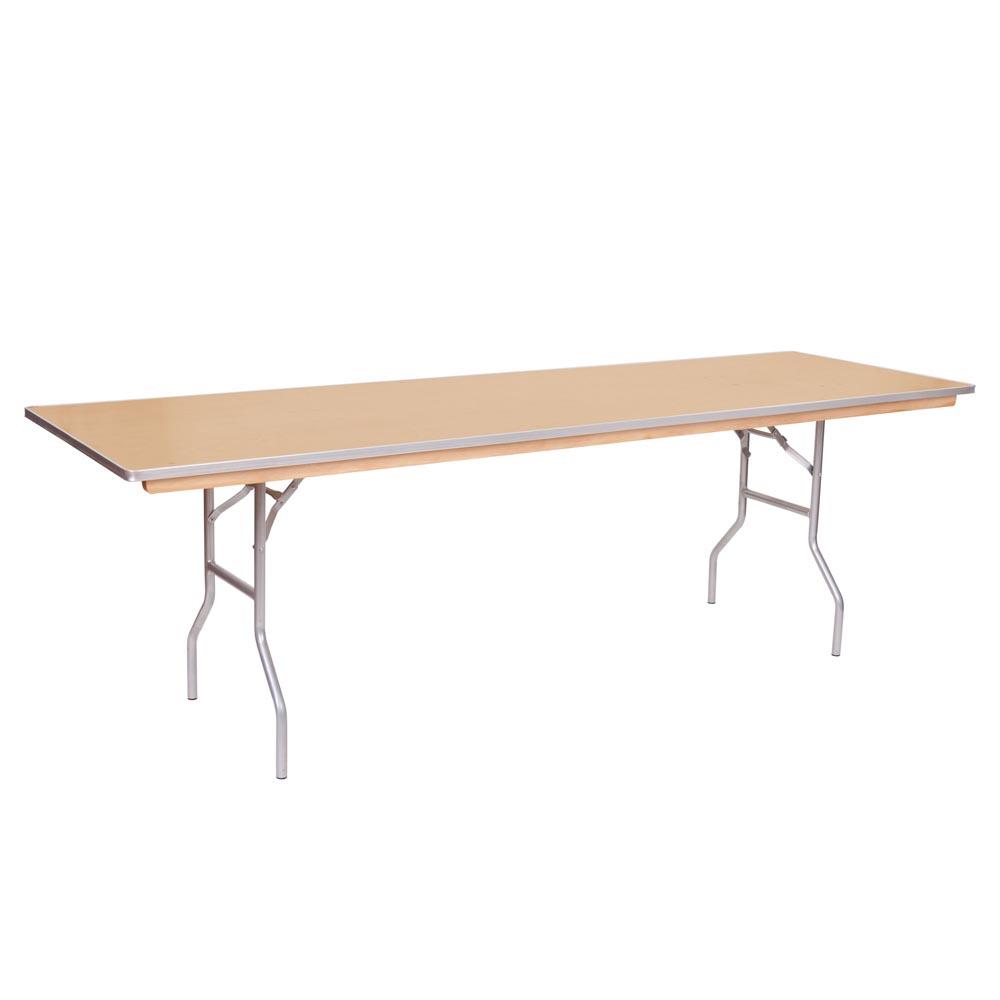 Plywood Training Table X Metal Edge - 18 x 96 training table