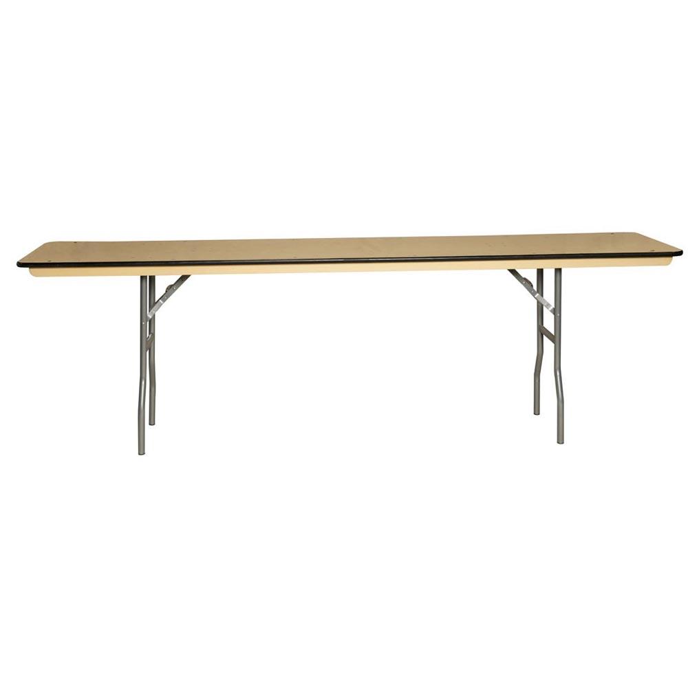 Plywood Training Table X Bullnose Edge - 18 x 96 training table
