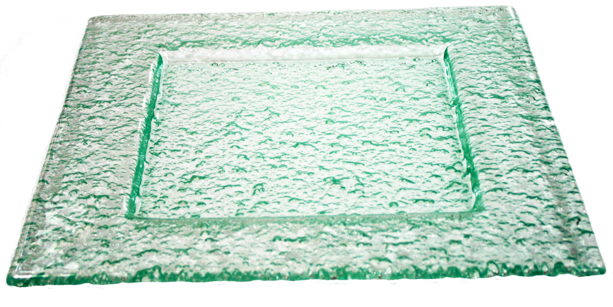 Green Tinted Glass Plate 6 Square Embossed  sc 1 st  Glass Designs & Square Glass Plates - Glass Designs