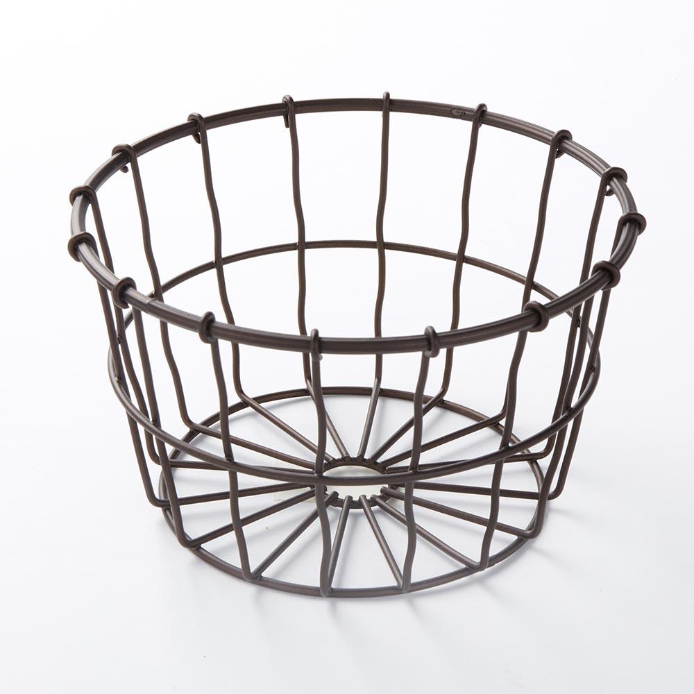 Large Bronze Wire Basket Round 7 D X 4 1 4 H